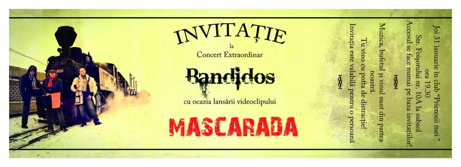 Invitatie Mascarada